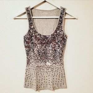 Express Sequined Tank Top Size XS